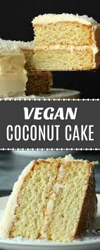 Vegan Coconut Cake With Coconut Rum Frosting Loving It Vegan