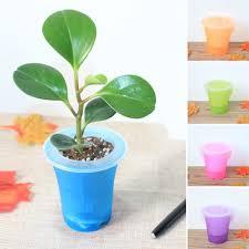 office flower pots. Automatic Watering Home Office Garden Flower Pot Decor Plastic Matte Surface Colorful Succulent Planter Jardin Pots L