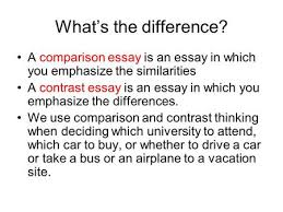 how to write a compare contrast paper overview a comparison or a comparison essay is an essay in which you emphasize the similarities