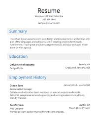 select template heavy sample of the resume