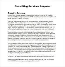 Consulting Proposal Template Sample Consultant Proposal 5
