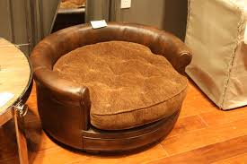 faux leather round seating