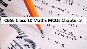 cbse class 10 maths mcqs chapter 3 pair