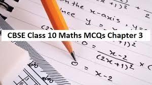 cbse class 10 maths mcqs chapter 3 pair