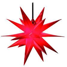 3d Weihnachtsstern Rot 55cm Außenstern Adventstern Faltstern Stern 4m Kabel