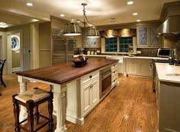rustic contemporary kitchen cabinets brown wooden top grey color granite countertop white color bar stools seats