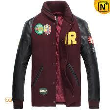 leather sleeve baseball jacket cw850339 cwmalls com