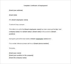 certification letter certification of employment letter template the letter sample