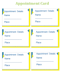 Appointment Cards Template Word Appointment Card Template Templates For Microsoft Word