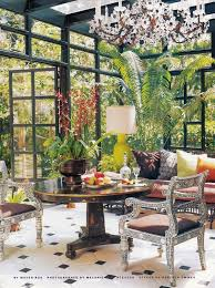 Home And Garden Interior Design Custom A Conservatory In A 48′s Beverly Hills Residence Decorated By