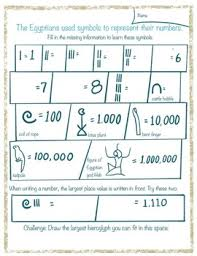 Egyptian Numbers Worksheets Teaching Resources Tpt