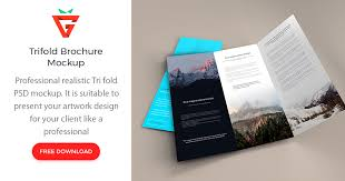 Free Download Brochure Trifold Brochure Psd Mockup Graphberry Com
