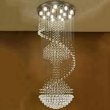 Luxury Modern Big Chandelier Big Long Ladder Spiral Crystal Chandeliers LED  Fixture Lamp Ladder Pendant Drop|Chandeliers| - AliExpress