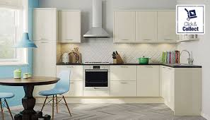 Cream Kitchen strata gloss cream kitchen style kitchens magnet trade 5558 by guidejewelry.us