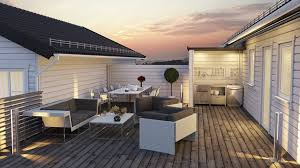 rooftop furniture. A Rooftop Patio With Natural Hardwood Deck, Contemporary Furniture, And Small Outdoor Furniture M