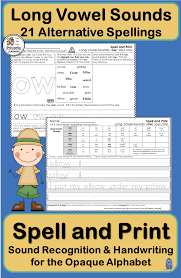 Click on the category or resource type below to find printable phonics worksheets and. Long Vowel Sounds Handwriting 21 Alternative Spellings Phonics Jolly Phonics Phonics Programs