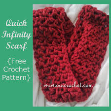 Free Infinity Scarf Crochet Pattern Enchanting Oui Crochet Quick Infinity Scarf Free Crochet Pattern