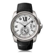 cartier calibre de cartier watches the watch gallery cartier calibre de cartier automatic stainless steel silver dial mens watch w7100037