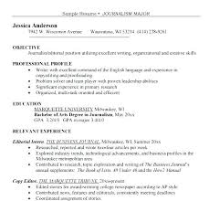 Writers Resume Sample Author Resume Author Resume Journalist Resume