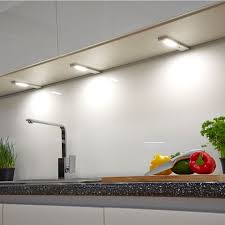 Image Puck Lights Sensio Quadra Modern Led Under Cabinet Light with Sensor