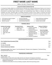 Jr. Network Administrator Resume Sample & Template