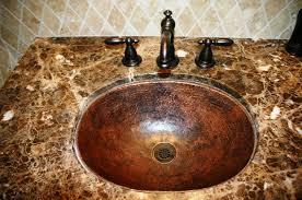 hammered copper sink care
