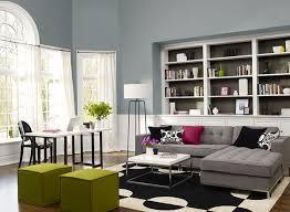 Blue Living Room Ideas - Lush Blue-Gray Living Room - Paint Color Schemes