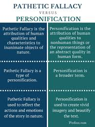 Difference Between Pathetic Fallacy And Personification Infographic