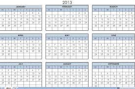 Excel Calendar Template 2013 2013 Print Calendars Single Page 2013 Printable One Page Calendar