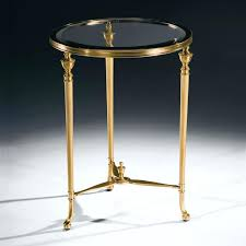 regency round brass side table nz