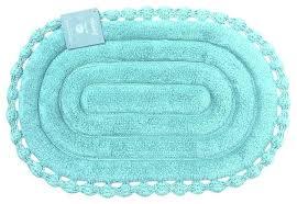 oval bath rugs home echo oval aqua spa blue cotton bath mat rug with crochet border oval bath rugs