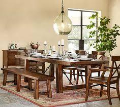 benchwright extending rectangular dining table 108 x 42 alfresco brown finish