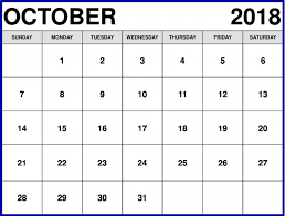 Printable October Calendar October 2018 Calendar Printable Cute Pdf Template