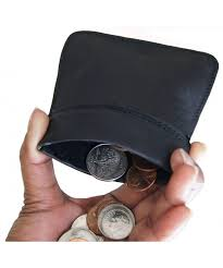 wallets genuine leather squeeze change