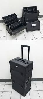 new 90 cosmetic 2in1 aluminum makeup artist show train case lock box 14 x9 5 x29