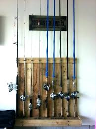 fishing pole holder for garage beautiful rod wall mount fresh build how to make a fishing rod rack