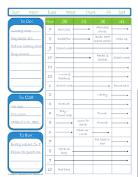 Make A Time Schedule To Do List With Time Schedule Editable Version Organizing Homelife