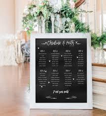 Blackboard Seating Chart Chalkboard Seating Chart Chalkboard Printed Seating Plan Wedding Seating Chart Wedding Seating Poster
