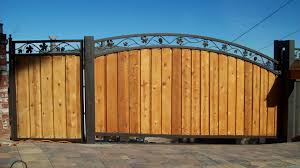 iron frame for wooden gate ornamental steel frame