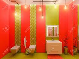 3d Darstellung Eines Bad Interior Design Für Kinder Render