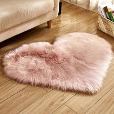 love heart gy faux fur rugs wool sheepskin carpet rug floor mat fluffy soft area rugs tapetes pink fur seat cover d19010902 masland carpet frieze