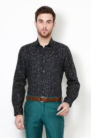 V Dot Shirts Van Heusen Black Shirt For Men At Vanheusenindia Com