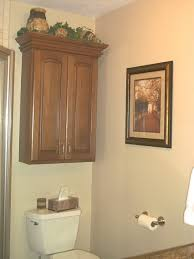 Dark Wood Bathroom Accessories Over Toilet Cabinet Wall Mount
