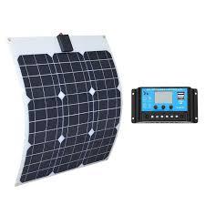 <b>Boguang 18v 40w semi flexible</b> solar panel 10A controller 40 Watt ...