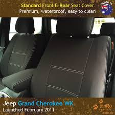 fits jeep grand cherokee feb11 now front rear neoprene seat covers arm acc