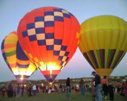 Hot air balloons ready to take off in Lakeway