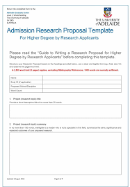 Dst Research Proposal Format
