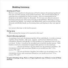 Wedding Ceremony Templates Free Wedding Program Template Ceremony Fresh Reception Sample P Word