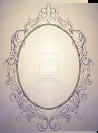 antique mirror frame tattoo. Beautiful Antique Drawing Oval Frame  Google Search And Antique Mirror Frame Tattoo 8