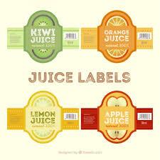 Label Design Free Juice Labels In Flat Design Vector Free Download